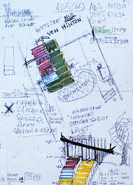 Sketches for open-air stage